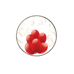 Balloon Partty Red Hat Clip Ball Marker (10 pack)