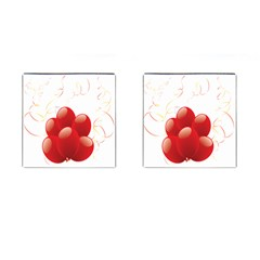 Balloon Partty Red Cufflinks (square)