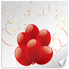 Balloon Partty Red Canvas 16  x 16