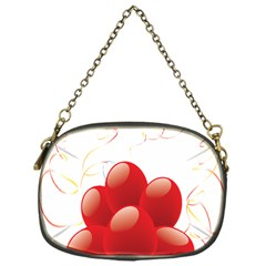 Balloon Partty Red Chain Purses (One Side)