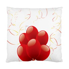 Balloon Partty Red Standard Cushion Case (One Side)
