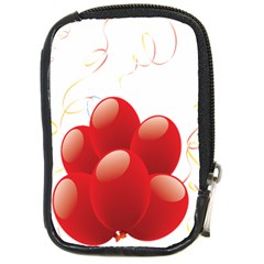 Balloon Partty Red Compact Camera Cases