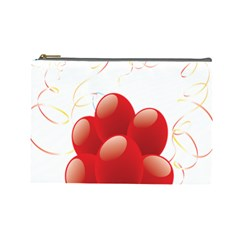 Balloon Partty Red Cosmetic Bag (Large)