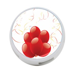 Balloon Partty Red 4-Port USB Hub (One Side)