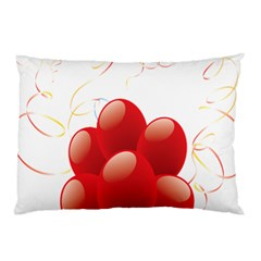 Balloon Partty Red Pillow Case (Two Sides)