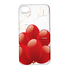 Balloon Partty Red Apple iPhone 4/4S Hardshell Case with Stand