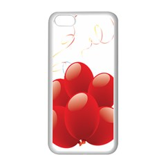Balloon Partty Red Apple iPhone 5C Seamless Case (White)