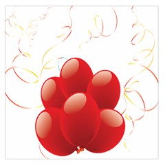 Balloon Partty Red Large Satin Scarf (Square)