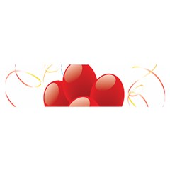 Balloon Partty Red Satin Scarf (oblong)