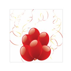 Balloon Partty Red Small Satin Scarf (Square)