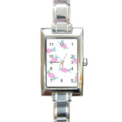 Candy Pink Blue Sweet Rectangle Italian Charm Watch