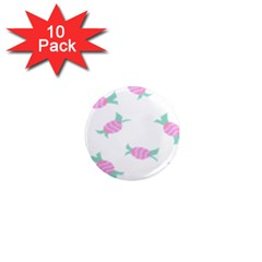 Candy Pink Blue Sweet 1  Mini Magnet (10 pack)