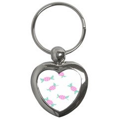 Candy Pink Blue Sweet Key Chains (Heart)