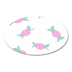 Candy Pink Blue Sweet Oval Magnet