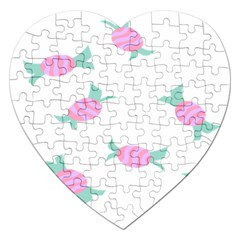 Candy Pink Blue Sweet Jigsaw Puzzle (Heart)