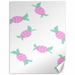Candy Pink Blue Sweet Canvas 12  x 16
