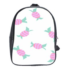 Candy Pink Blue Sweet School Bags(Large)