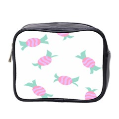 Candy Pink Blue Sweet Mini Toiletries Bag 2-Side