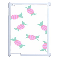 Candy Pink Blue Sweet Apple Ipad 2 Case (white)