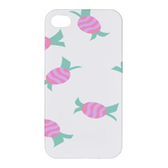 Candy Pink Blue Sweet Apple iPhone 4/4S Hardshell Case