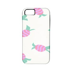 Candy Pink Blue Sweet Apple iPhone 5 Classic Hardshell Case (PC+Silicone)
