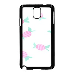 Candy Pink Blue Sweet Samsung Galaxy Note 3 Neo Hardshell Case (Black)