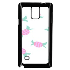 Candy Pink Blue Sweet Samsung Galaxy Note 4 Case (Black)