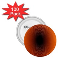 Abstract Circle Hole Black Orange Line 1 75  Buttons (100 Pack)