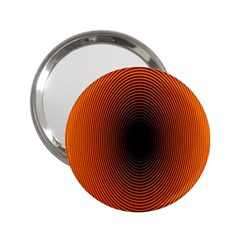 Abstract Circle Hole Black Orange Line 2 25  Handbag Mirrors