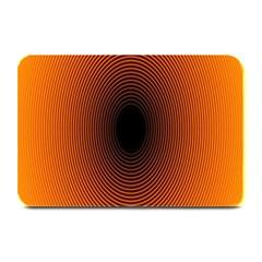 Abstract Circle Hole Black Orange Line Plate Mats