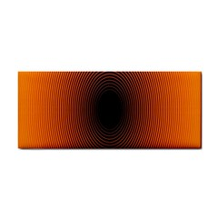 Abstract Circle Hole Black Orange Line Cosmetic Storage Cases