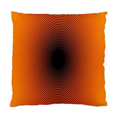 Abstract Circle Hole Black Orange Line Standard Cushion Case (two Sides)