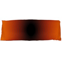 Abstract Circle Hole Black Orange Line Body Pillow Case Dakimakura (Two Sides)