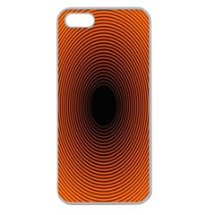 Abstract Circle Hole Black Orange Line Apple Seamless iPhone 5 Case (Clear)