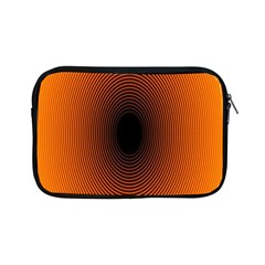 Abstract Circle Hole Black Orange Line Apple iPad Mini Zipper Cases