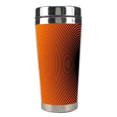 Abstract Circle Hole Black Orange Line Stainless Steel Travel Tumblers