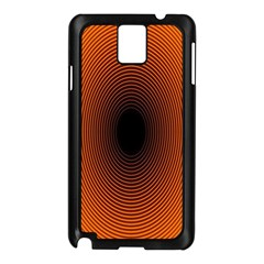 Abstract Circle Hole Black Orange Line Samsung Galaxy Note 3 N9005 Case (Black)