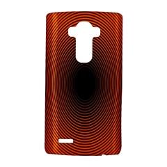 Abstract Circle Hole Black Orange Line LG G4 Hardshell Case