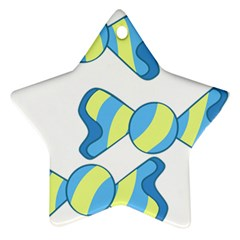 Candy Yellow Blue Ornament (Star)