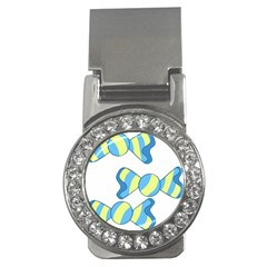 Candy Yellow Blue Money Clips (CZ)