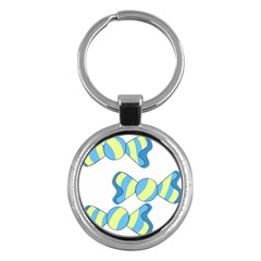 Candy Yellow Blue Key Chains (Round)