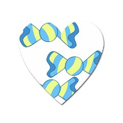 Candy Yellow Blue Heart Magnet