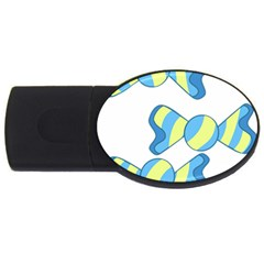 Candy Yellow Blue USB Flash Drive Oval (2 GB)