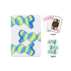 Candy Yellow Blue Playing Cards (Mini)