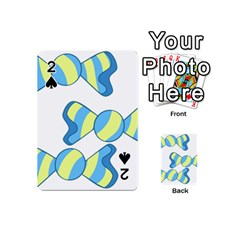 Candy Yellow Blue Playing Cards 54 (Mini)