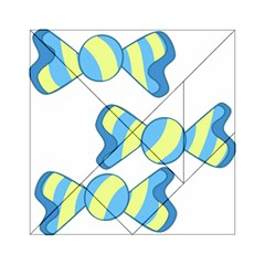 Candy Yellow Blue Acrylic Tangram Puzzle (6  x 6 )