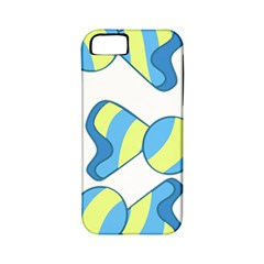 Candy Yellow Blue Apple Iphone 5 Classic Hardshell Case (pc+silicone)