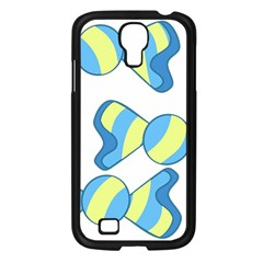 Candy Yellow Blue Samsung Galaxy S4 I9500/ I9505 Case (black)