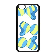 Candy Yellow Blue Apple iPhone 5C Seamless Case (Black)