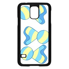 Candy Yellow Blue Samsung Galaxy S5 Case (Black)